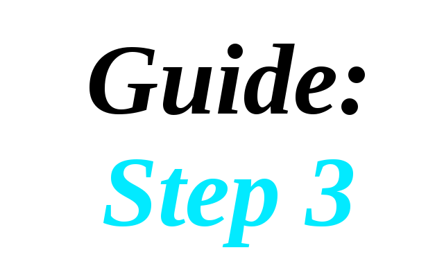 Guide: Step 3