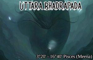 26 Uttara Bhadrapada Nakshatra