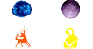 Sun in Sagittarius Moon in Scorpio Free Sidereal Astrology Jyotish Vedic Zodiac Star Signs Constellations